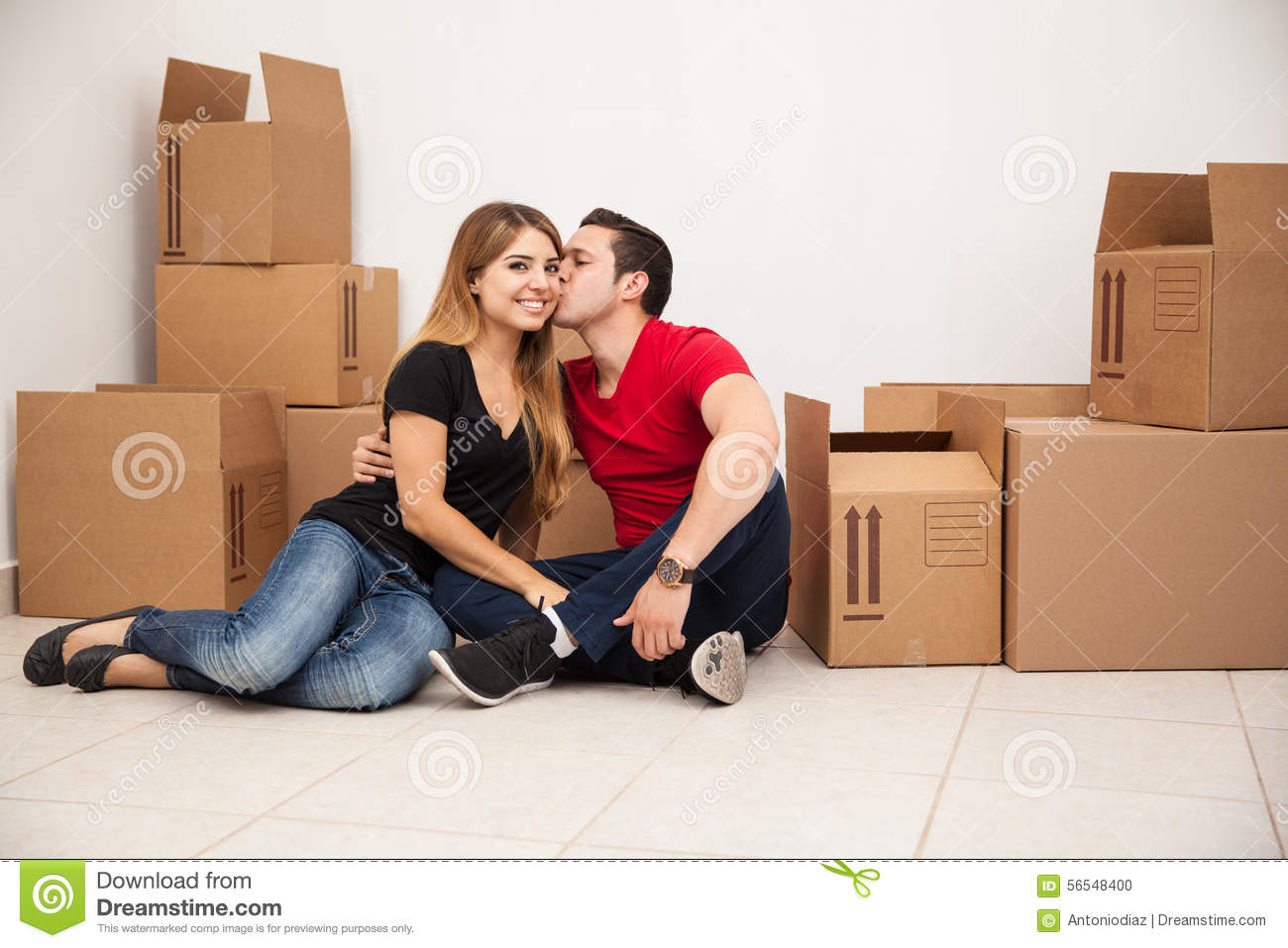 Married Couple Moving In Stock Photo Image 56548400
