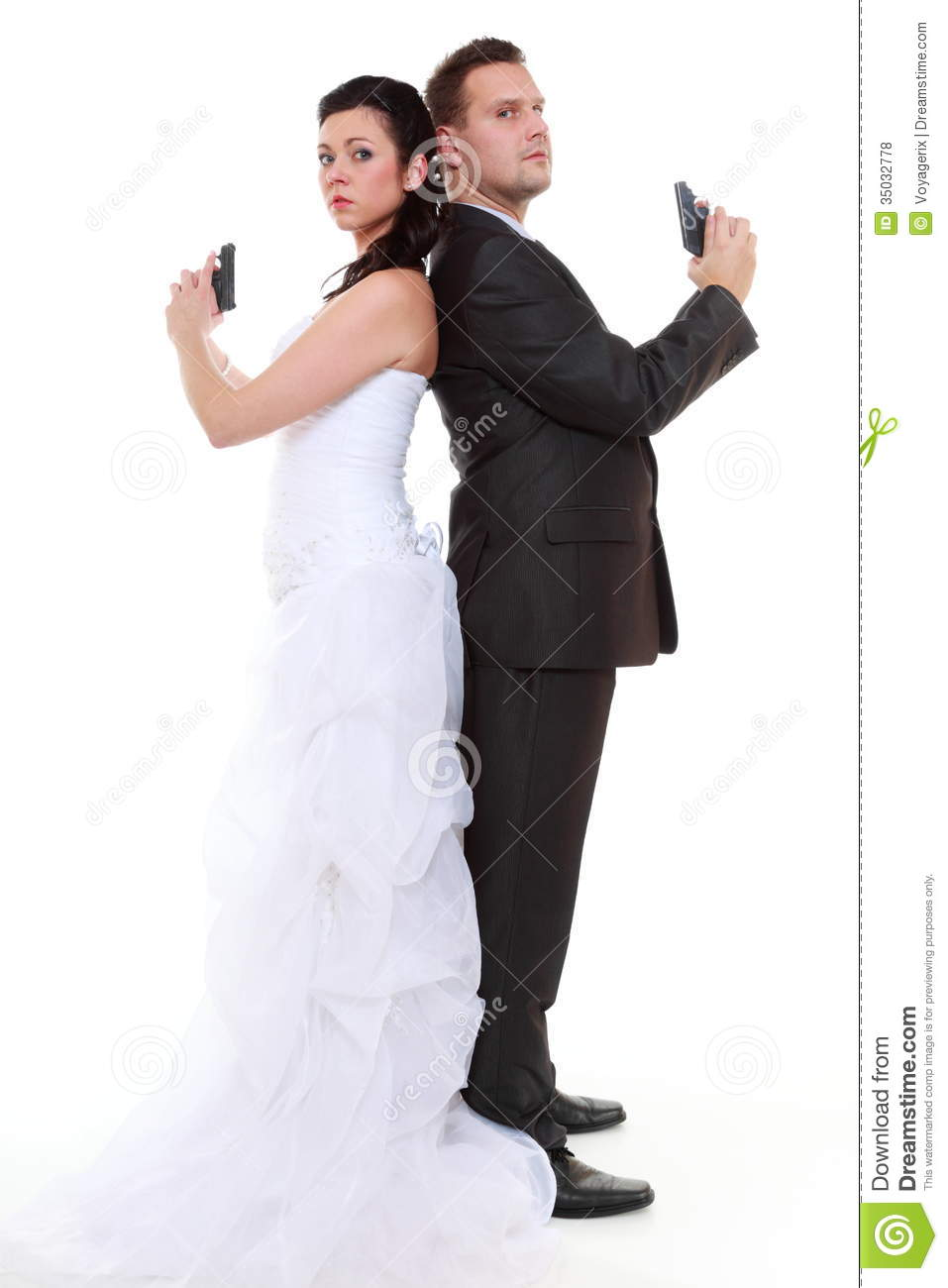 Credit Cards For Bad Credit >> Married Couple Problem Discord, Bride Groom With Gun ...