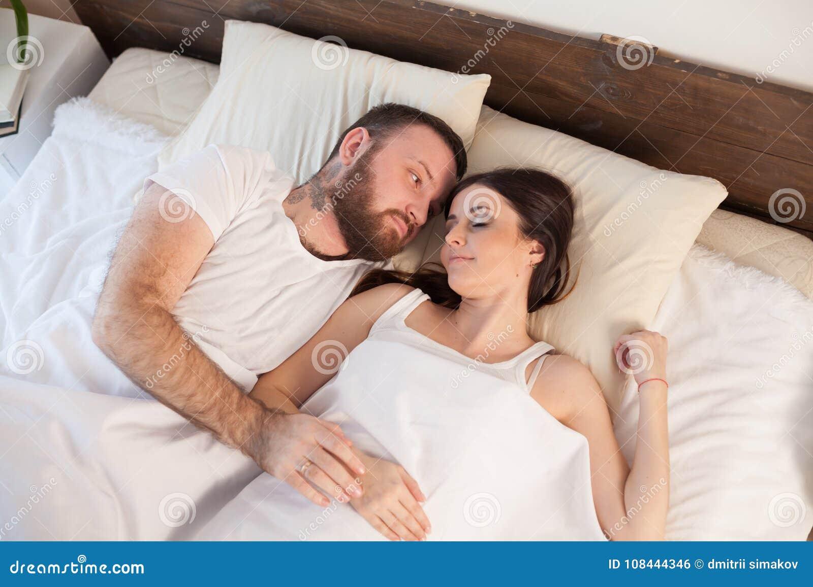 Couple sleeping Married