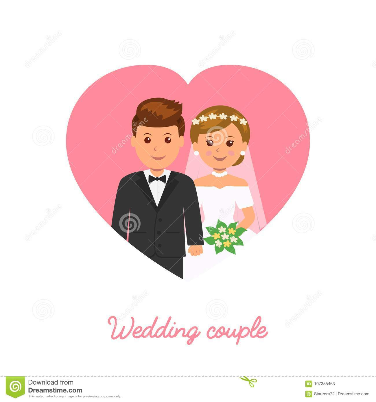 Married couple wedding icon marriage invitation stock vector download married couple wedding icon marriage invitation stock vector illustration of love stopboris Images