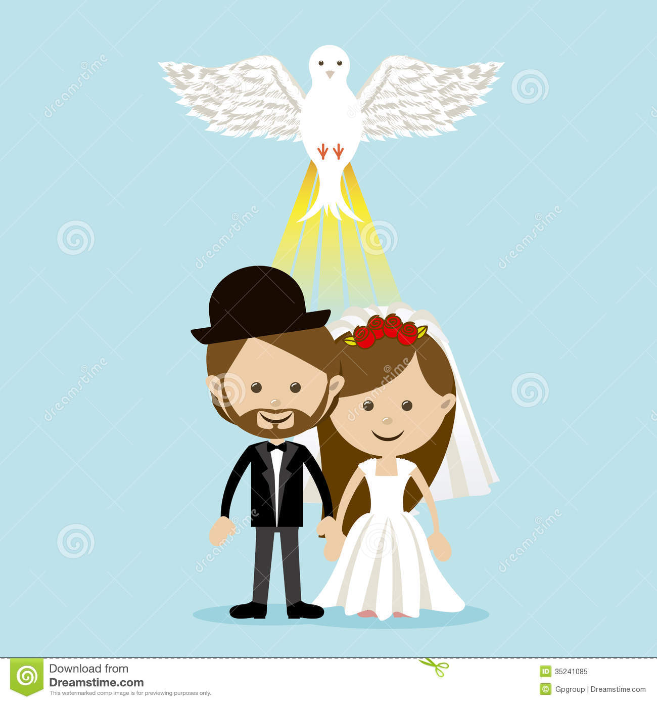 Married design stock vector illustration of greeting Married to design
