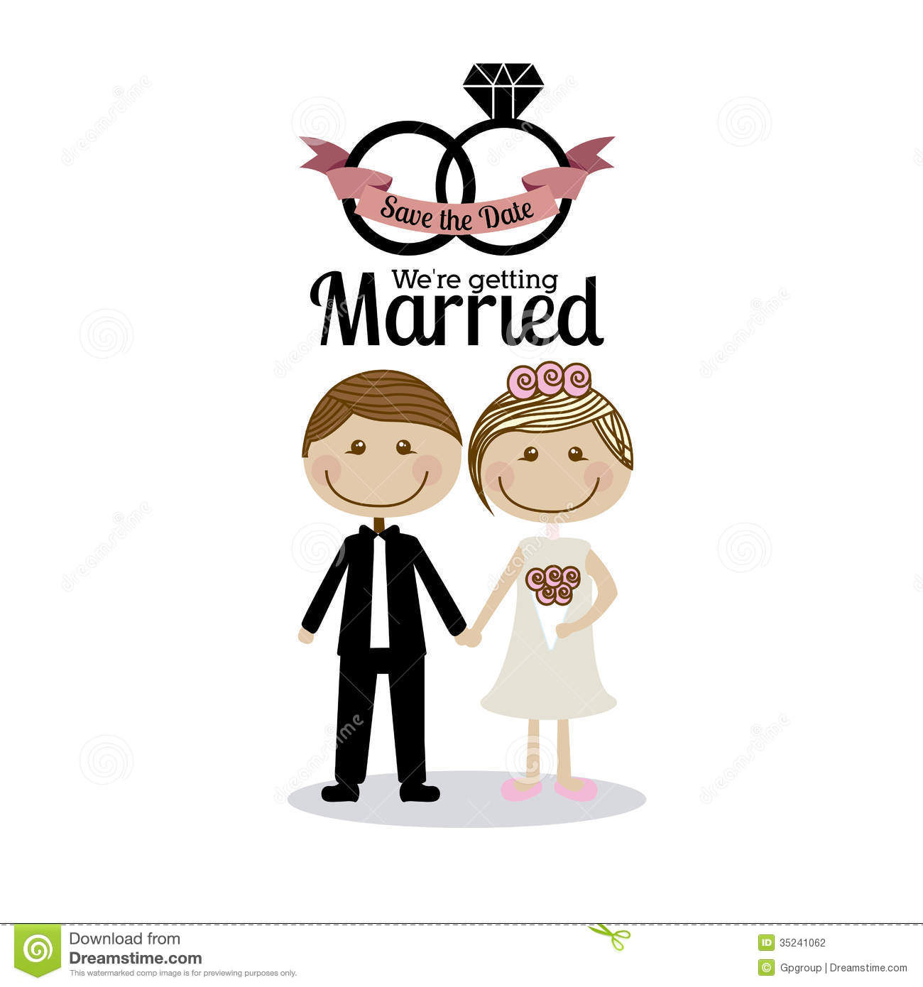 Married design stock vector illustration of cute card Married to design