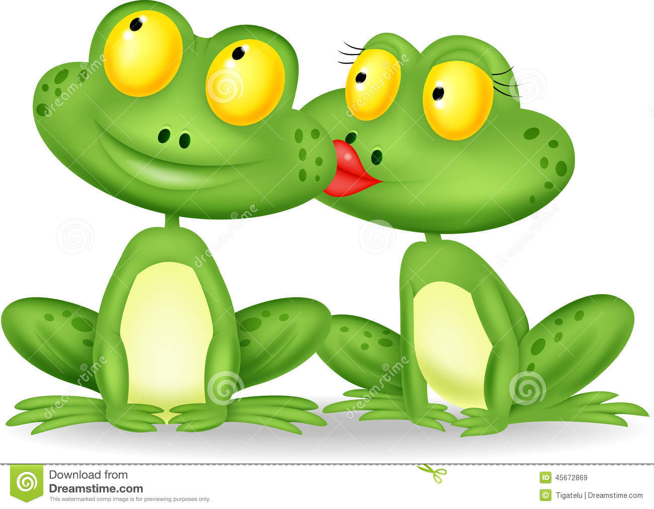 Married Frog Kissing Stock Vector - Image: 45672869