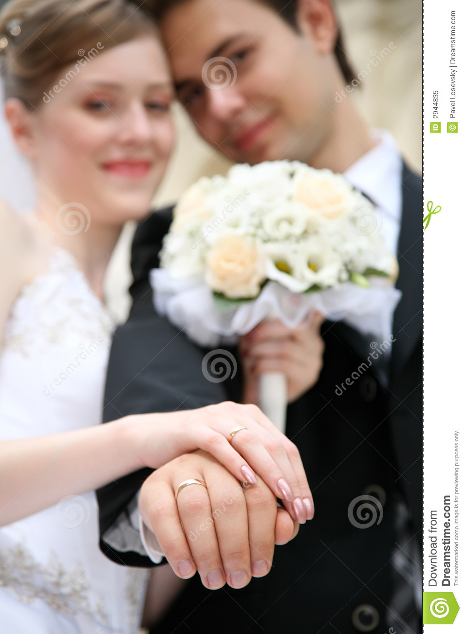 Download Married shows the rings stock image. Image of females - 2944835