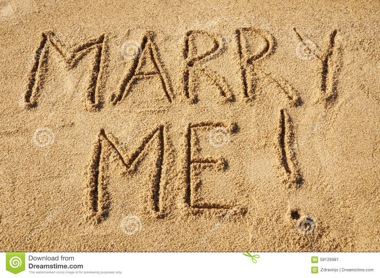 Marry Me! Stock Photo - Image: 58126981