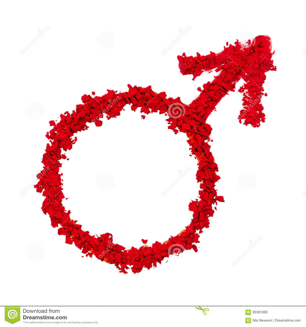 Mars Astrological Symbol Stock Photo Image Of Colored 95381690