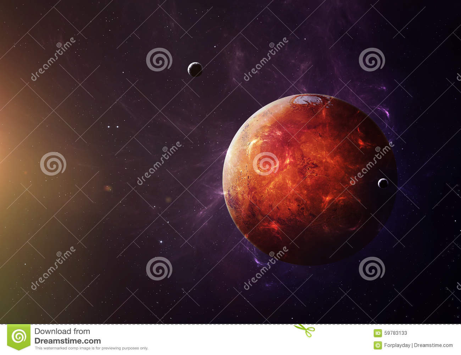 Mars de l espace les montrant à tous beauté