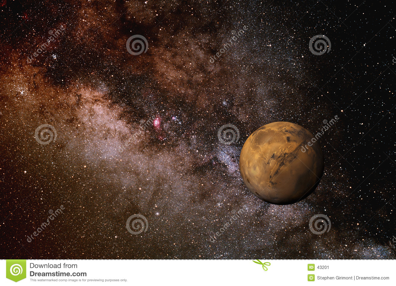 Mars en de Melkweg