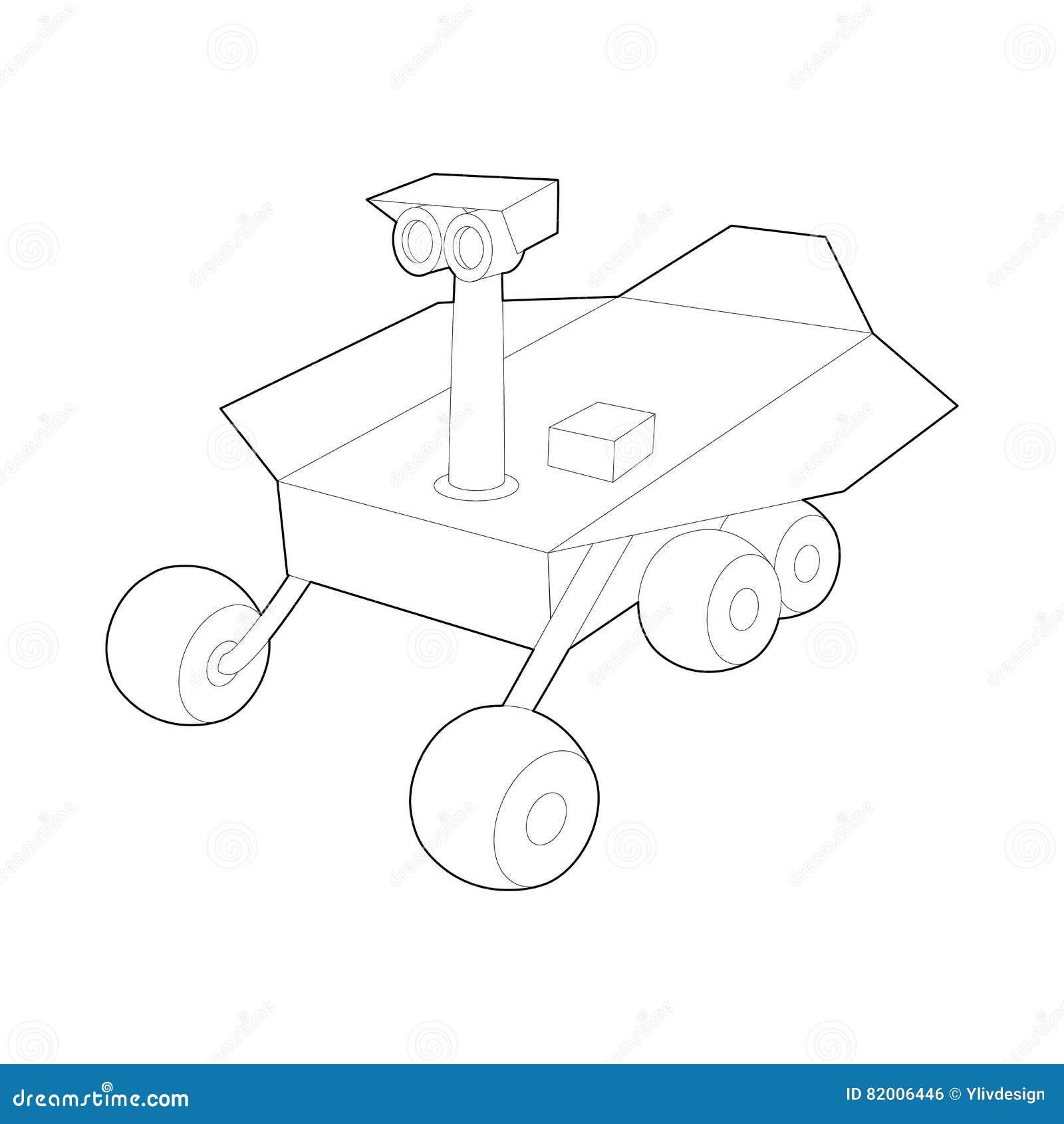 draw mars rover curiosity - photo #40