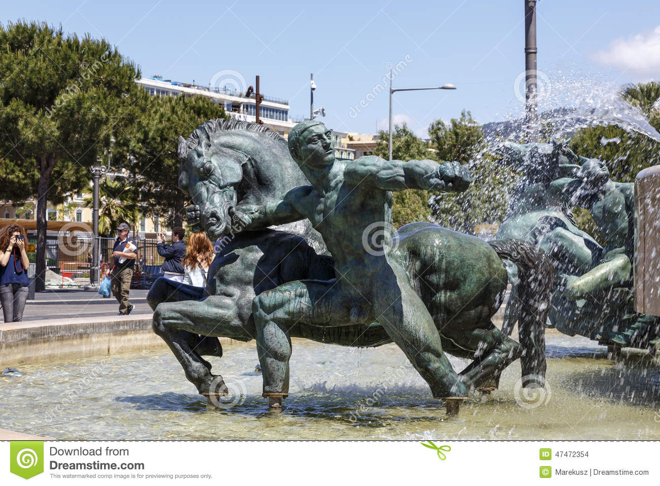 Mars Of Fontaine Du Soleil In Nice Editorial Stock Image - Image of ...