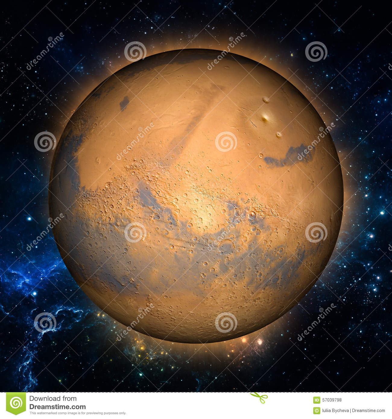 Mars Stock Illustration - Image: 57039798