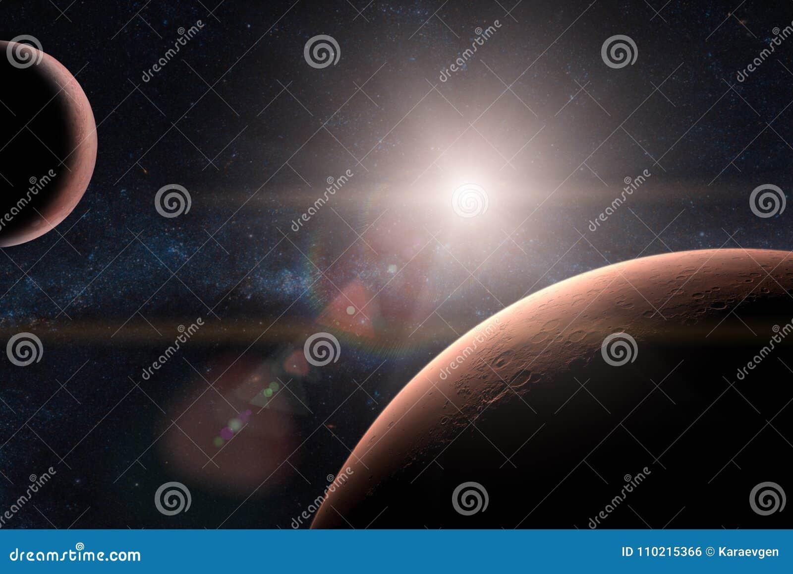 Mars Planètes dans le système solaire