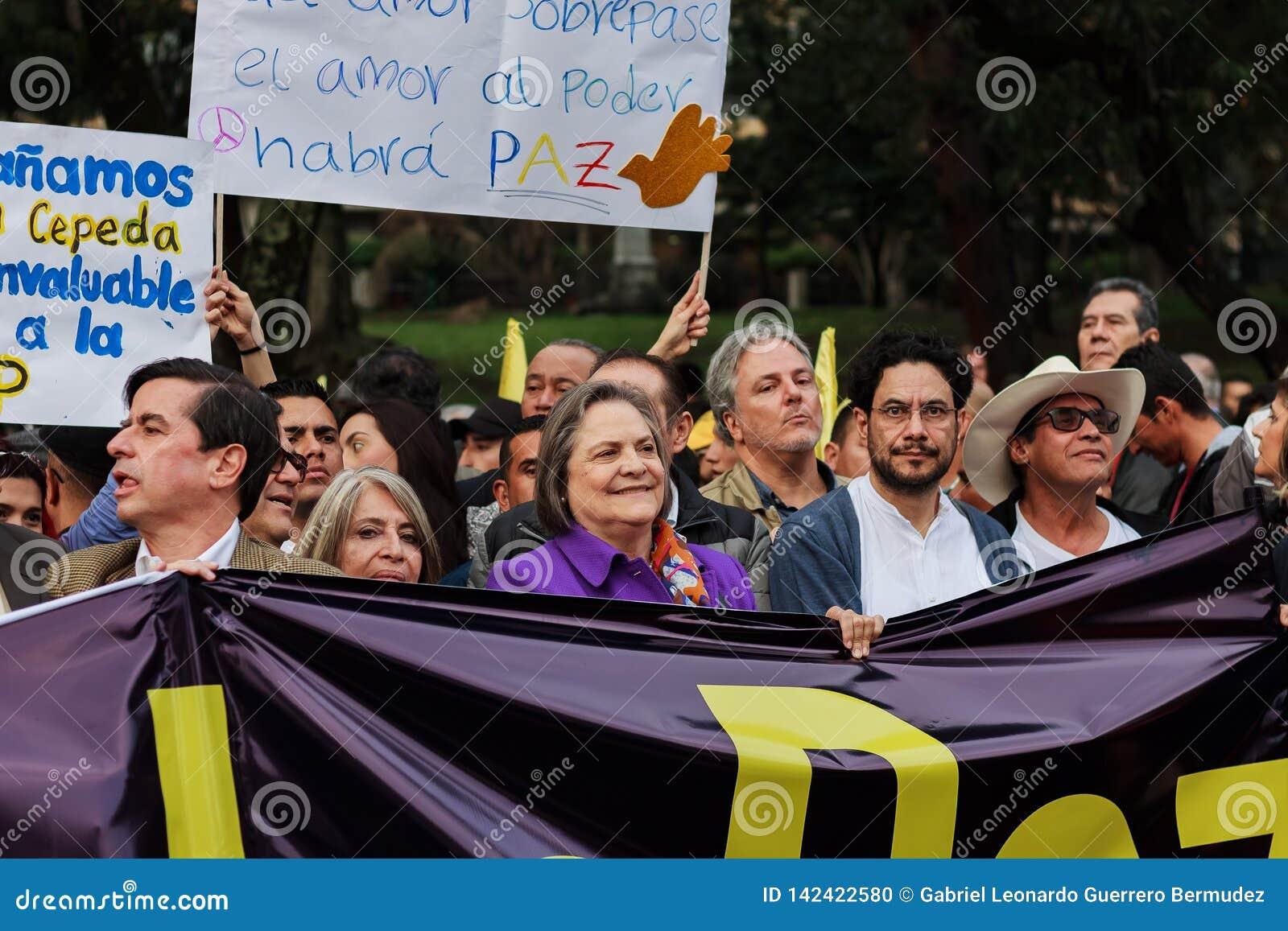 18 mars 2019 - mars pour la défense du PEC, juridiction spéciale pour le ¡ Colombie de Bogotà de paix