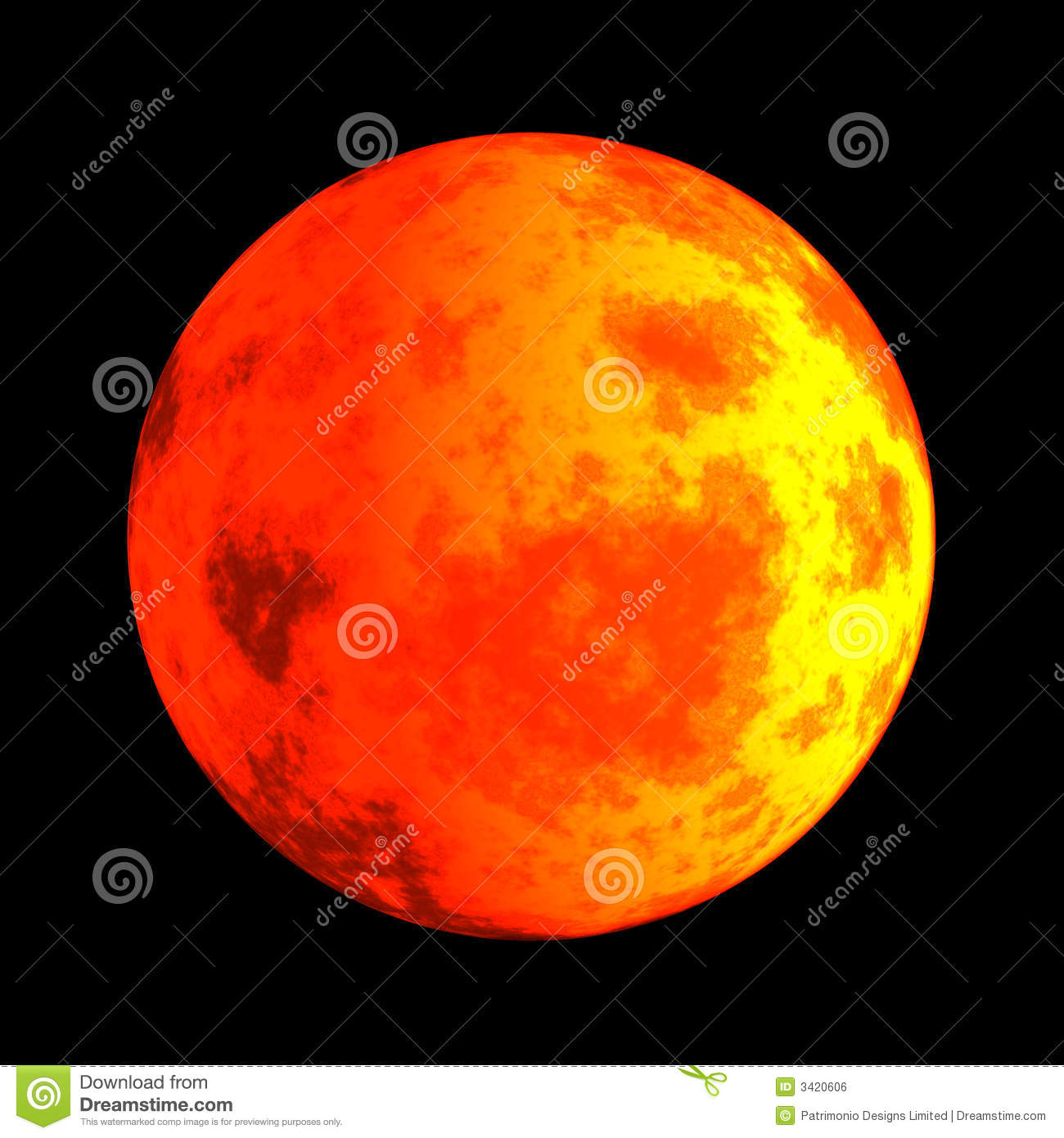 mars the red planet stock illustration image of mars