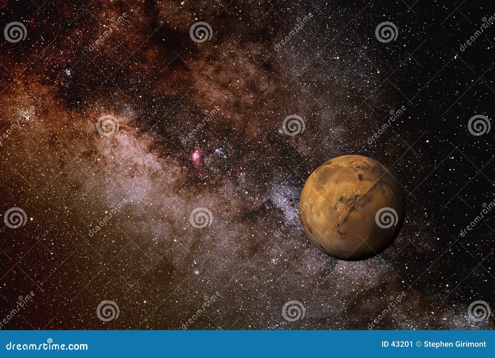 Mars und die Milchstraße