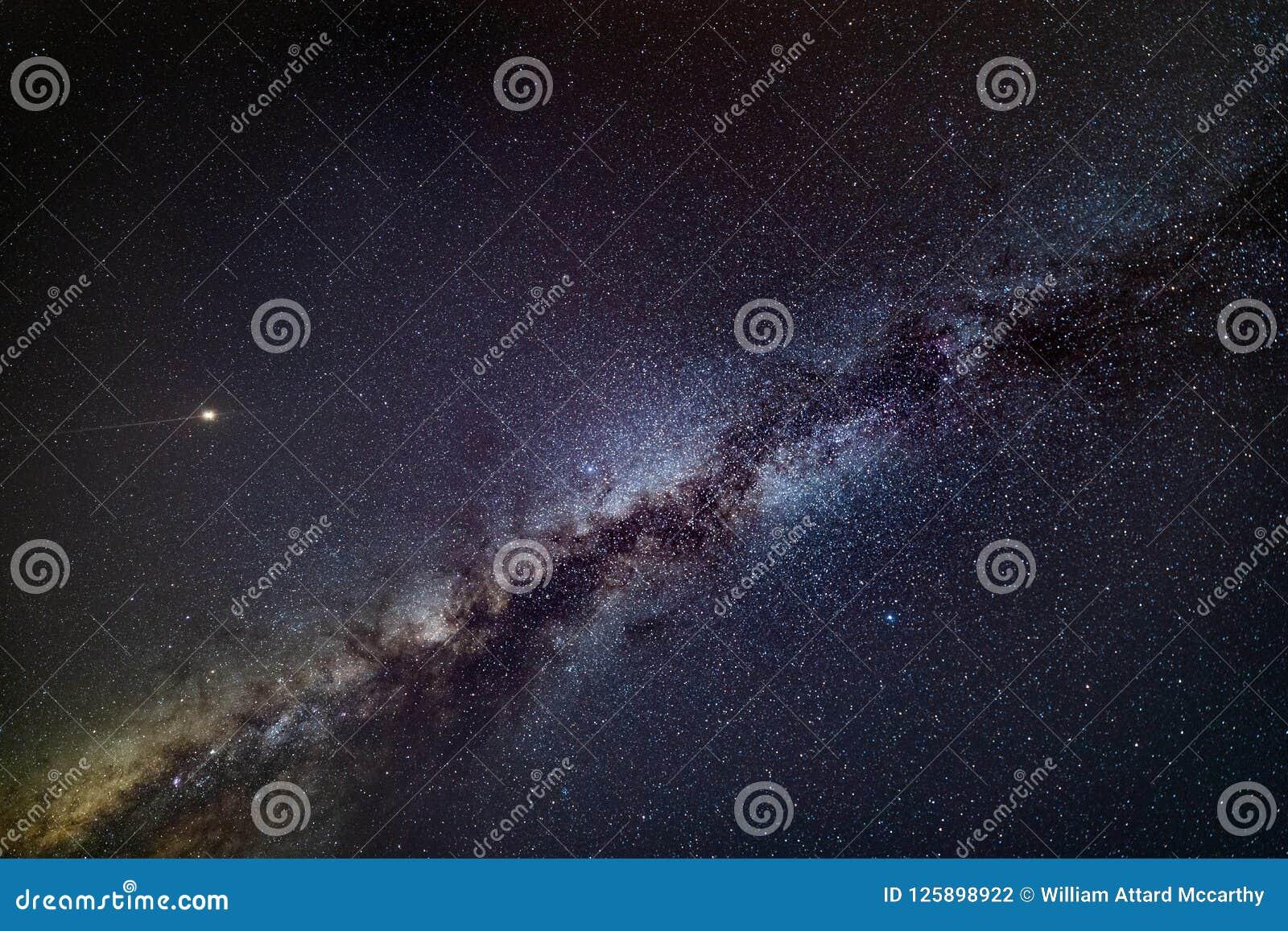 Mars und Milchstraße