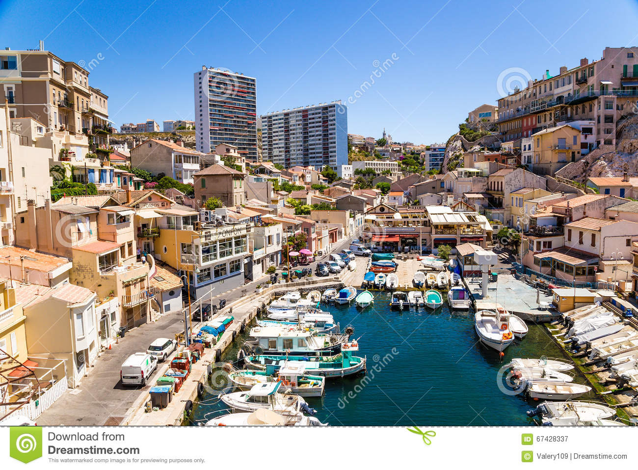 marseille france fishing port of vallon des auffes editorial