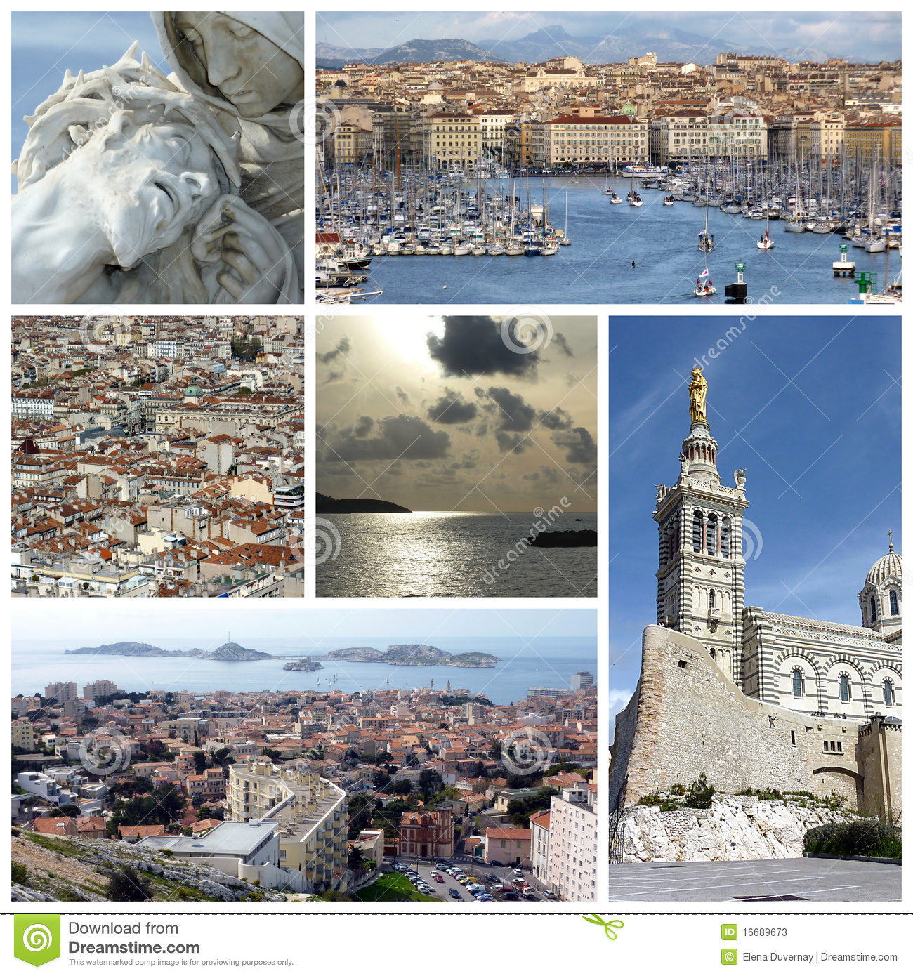 Marseilles France Collage Stock Photos Image 16689673