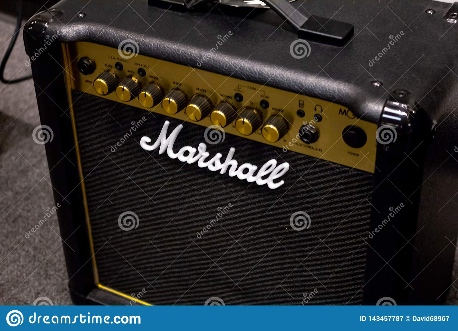 A Marshall brand amplifier