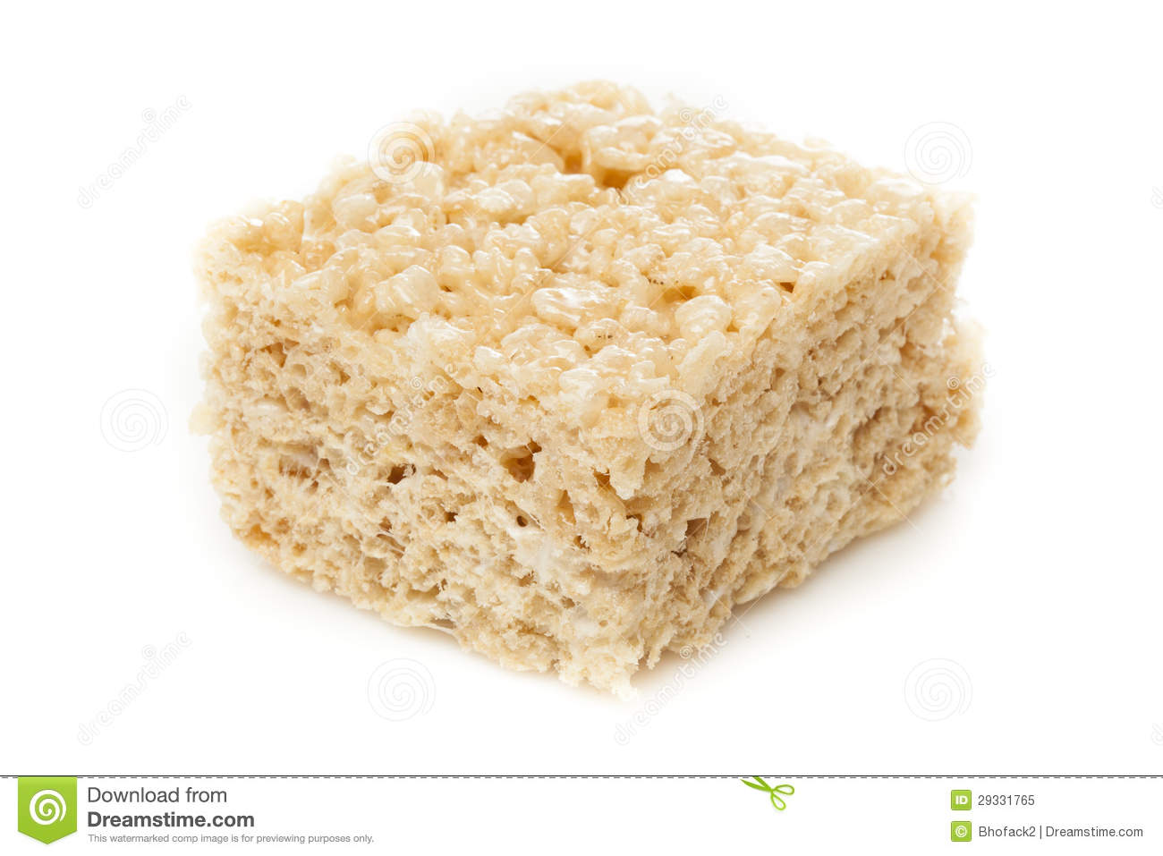 Marshmallow Crispy Rice Treat Royalty Free Stock Photo - Image ...