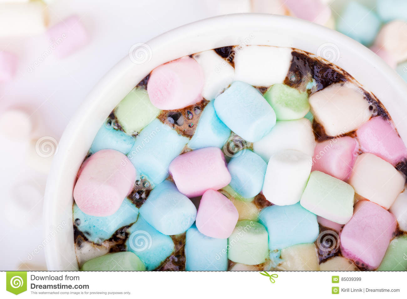 Download Marshmallow in the cup stock image. Image of delicious - 85039399