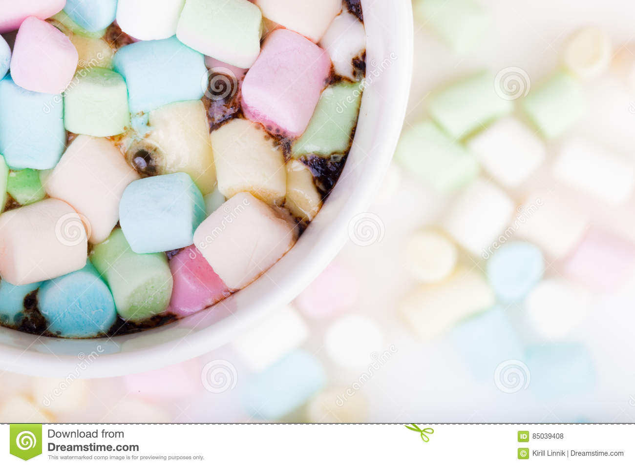 Download Marshmallow in the cup stock photo. Image of delicious - 85039408