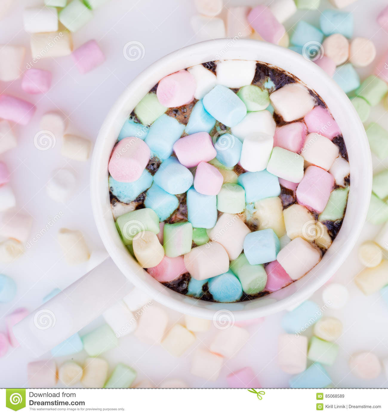 Download Marshmallow in the cup stock image. Image of brown, close - 85068589