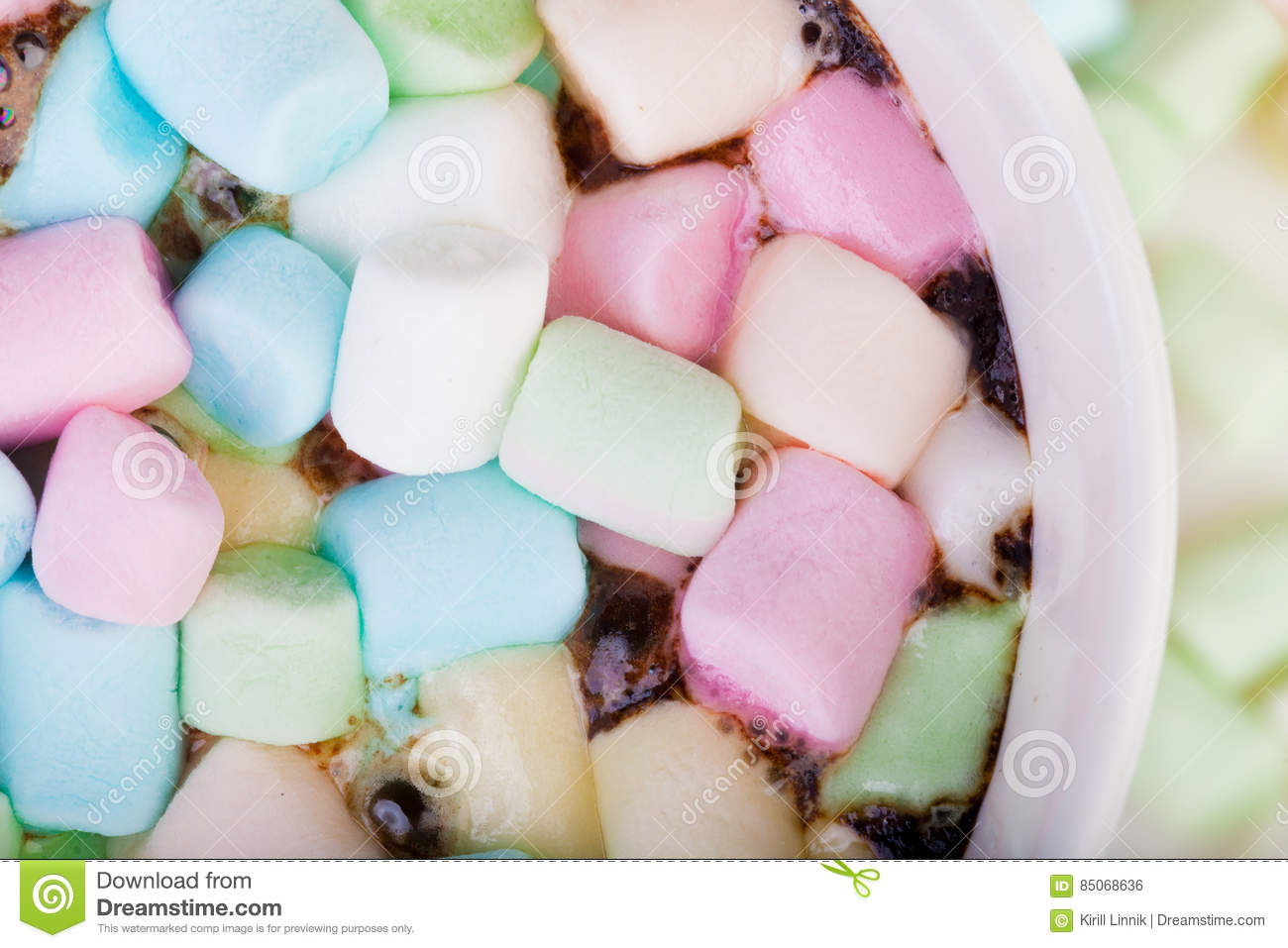 Download Marshmallow in the cup stock photo. Image of gourmet - 85068636