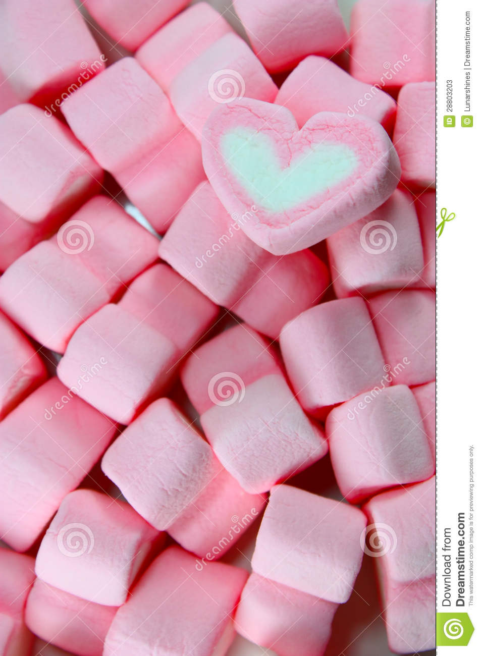Marshmallow Hearts Stock Photos - Image: 28803203