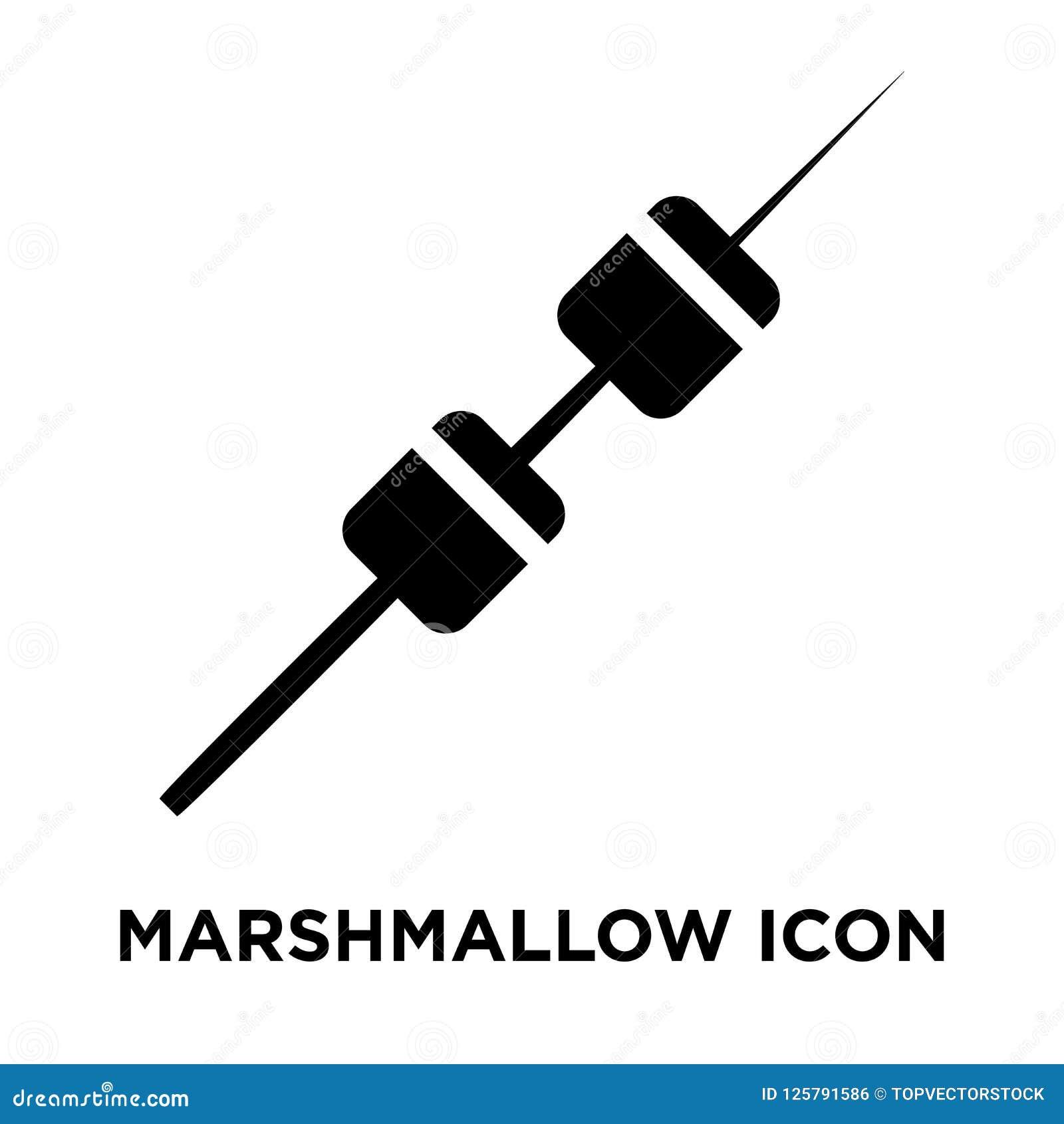 Marshmallow ikony wektor odizolowywający na białym tle, loga conce