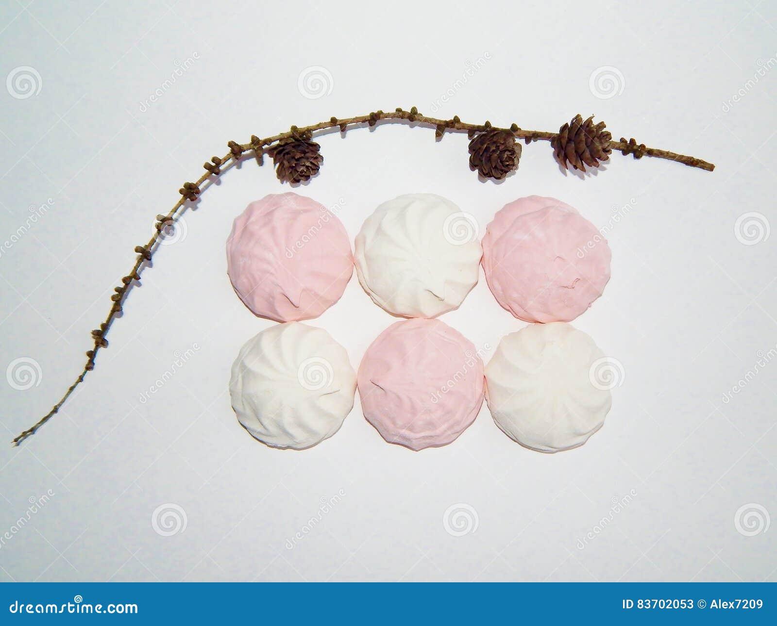 Marshmallow, Meringue,zephyr Stock Photo