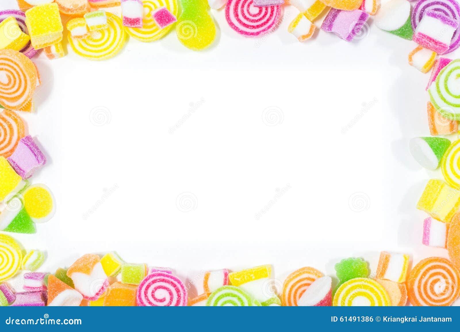 Marsmellow com fundo da sobremesa de gelatina
