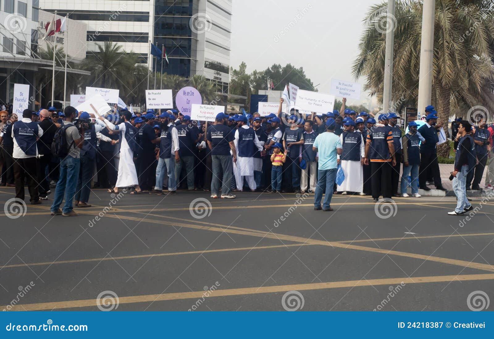 Marszu uczestników pokój
