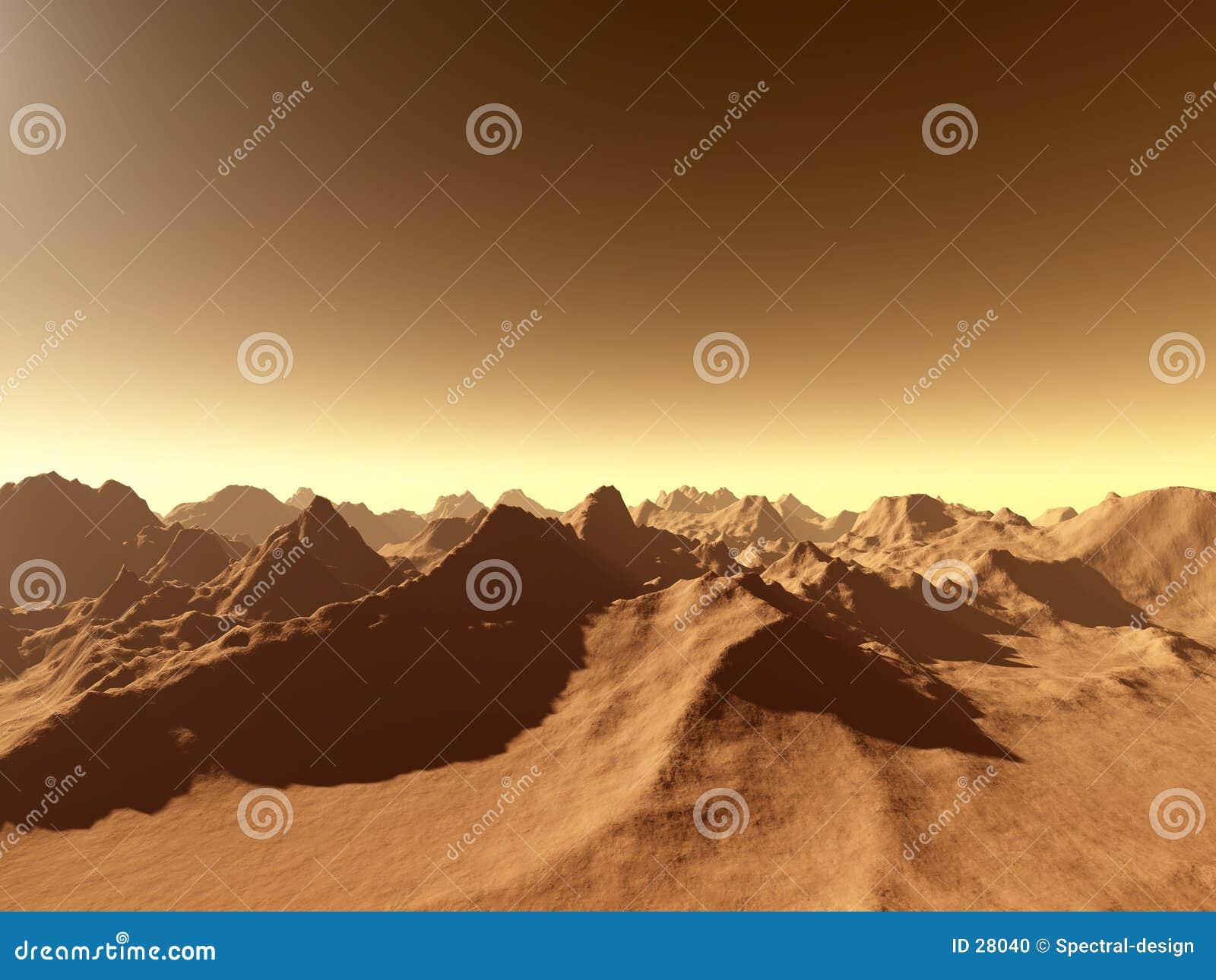 Marte - sobre as montanhas