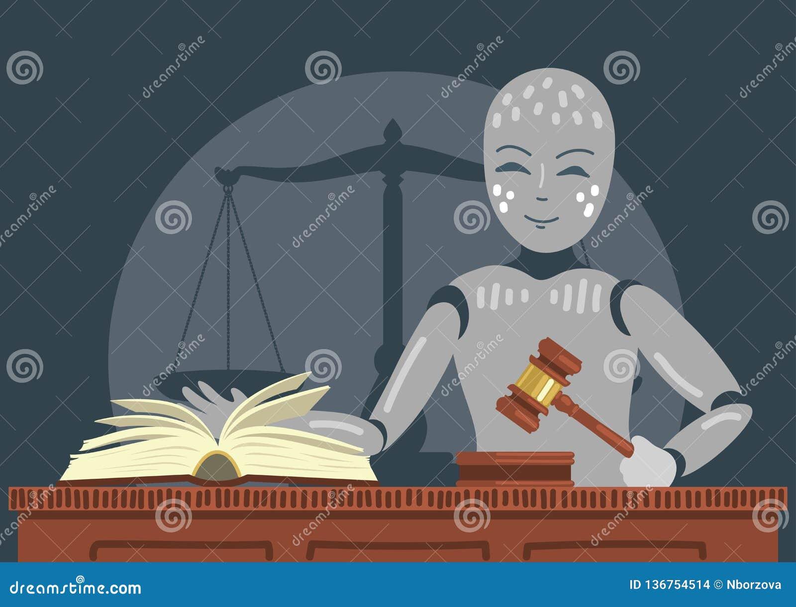Marteau de participation de juge de robot