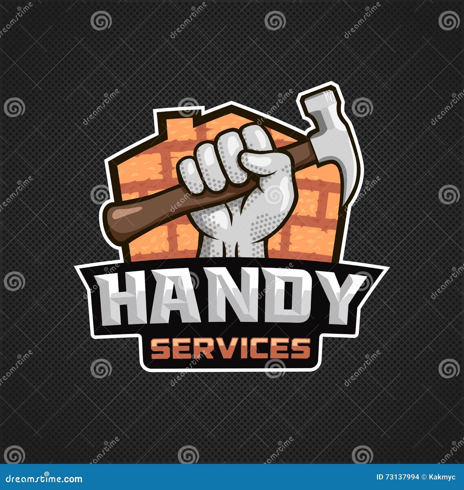 Marteau pratique de main de logo de services