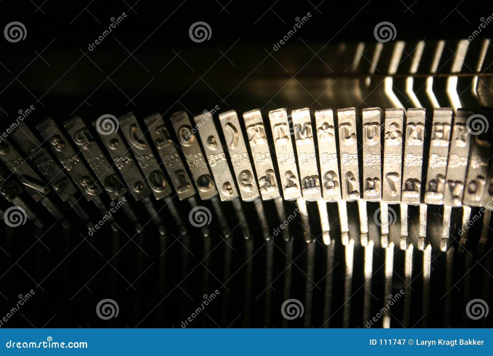 Martelos da máquina de escrever