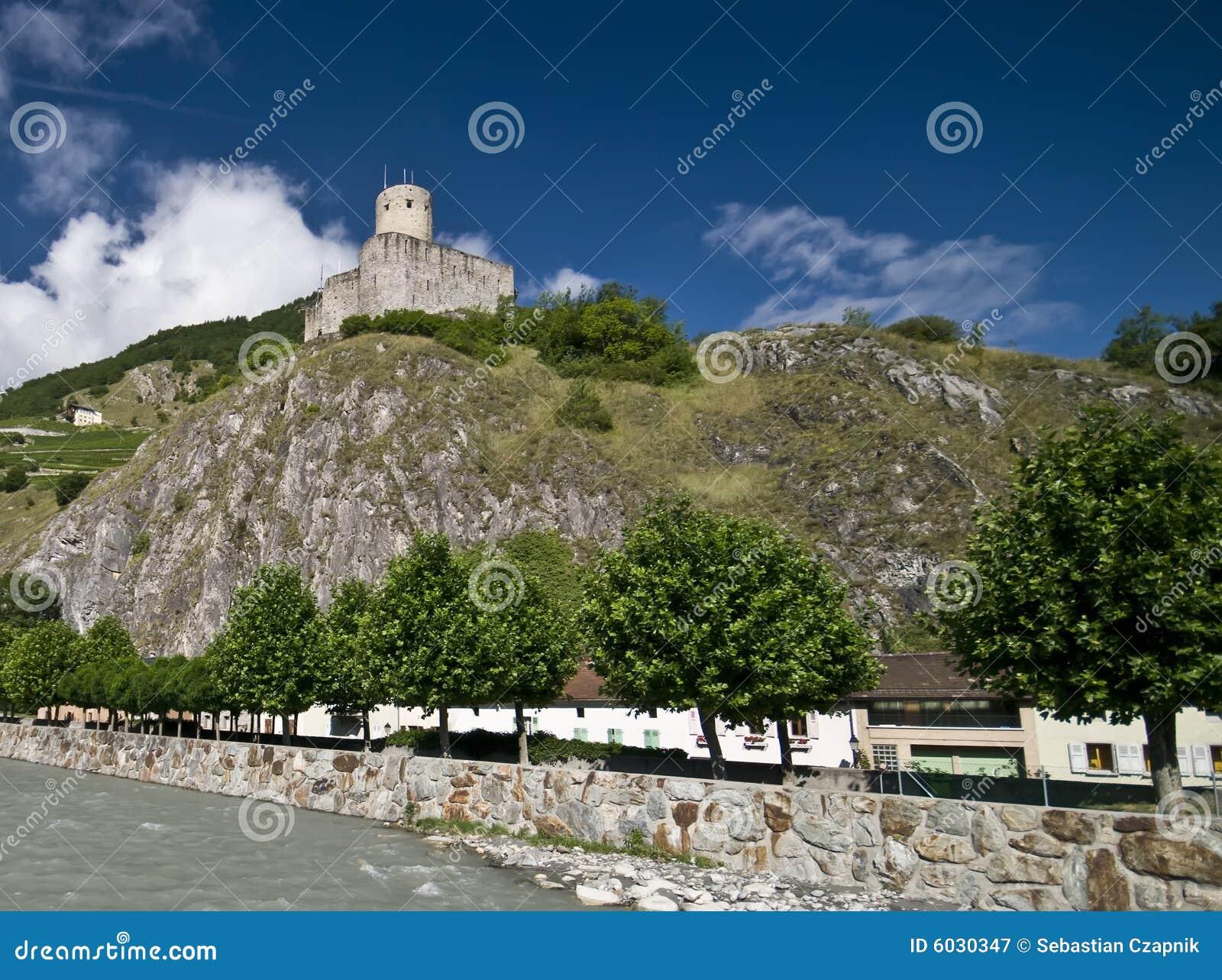 Download Martigny castle stock image. Image of castle, switzerland - 6030347