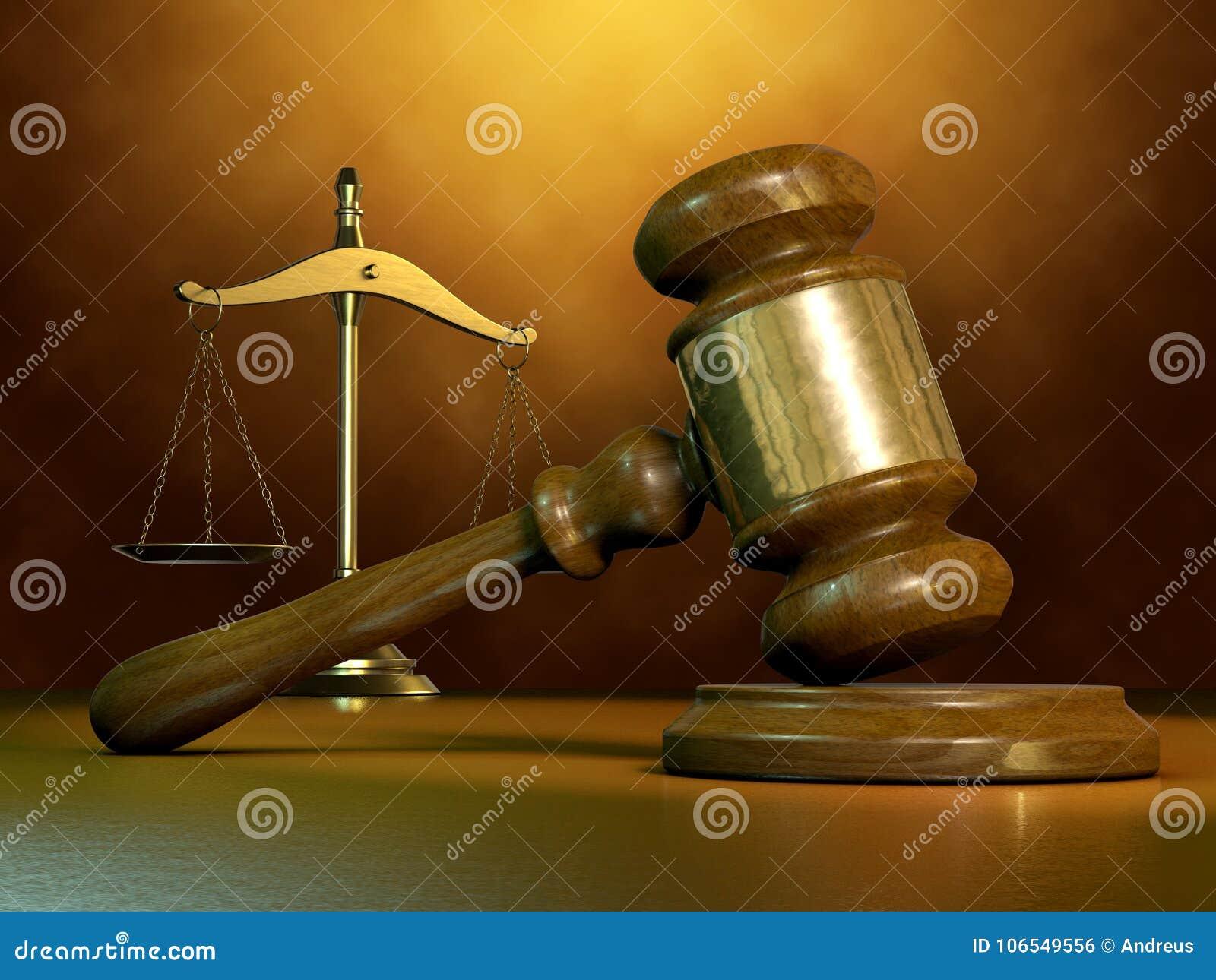 Martillo y escala legales