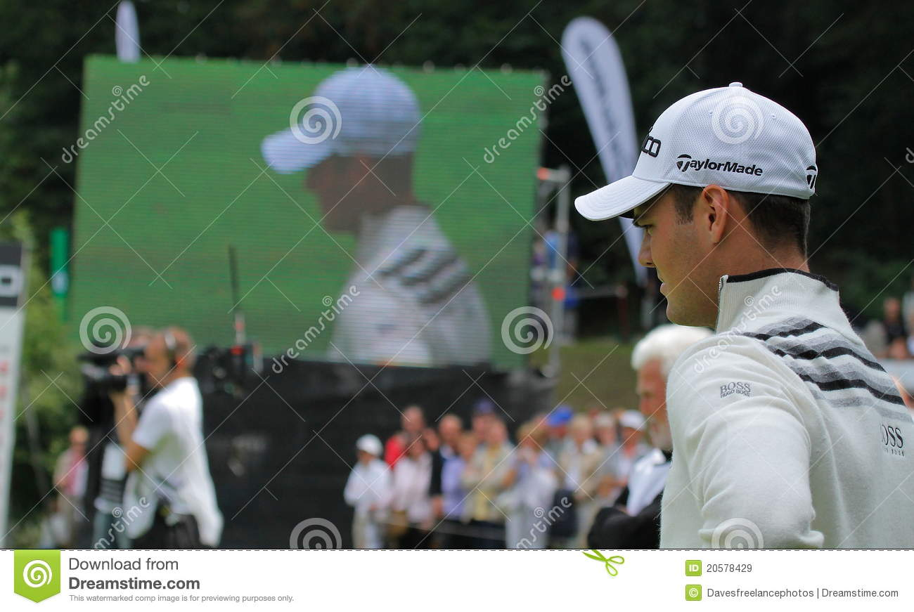 Martin Kaymer on the 18th.