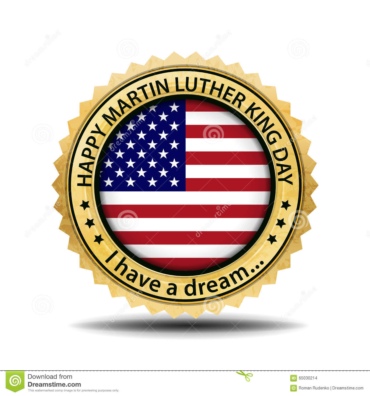Martin Luther King Day Emblem Vector Label For Mlk Day Usa Fl