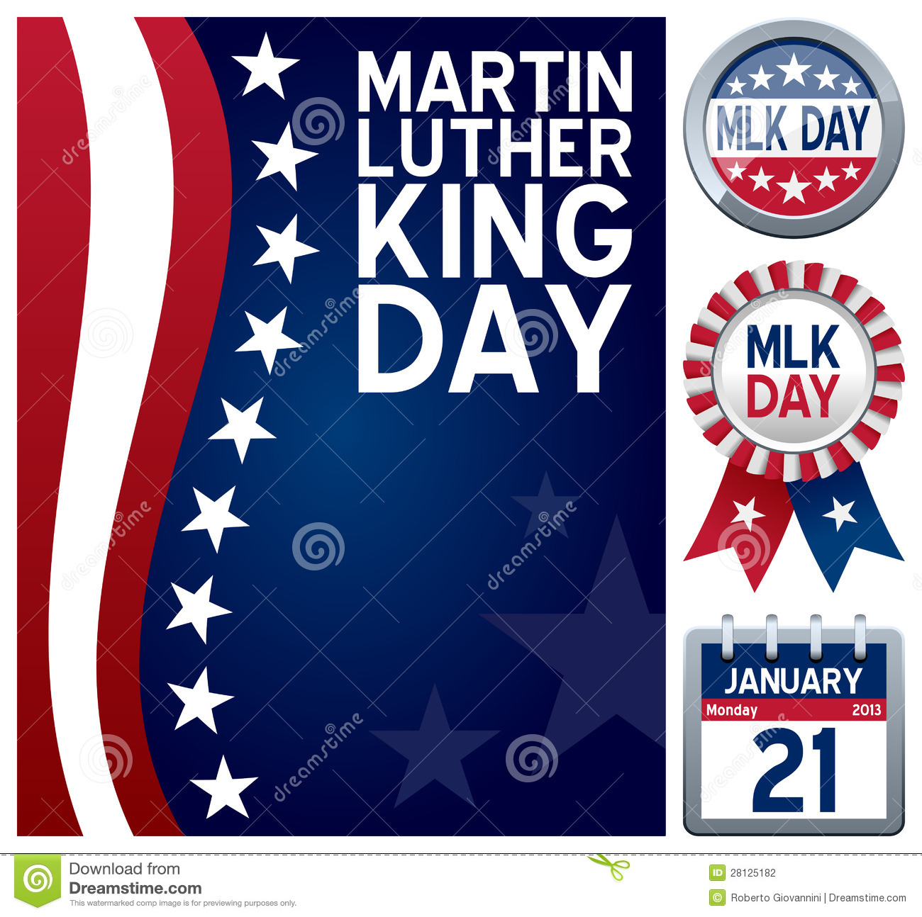 Martin Luther King Day Set Editorial Photography - Image ...