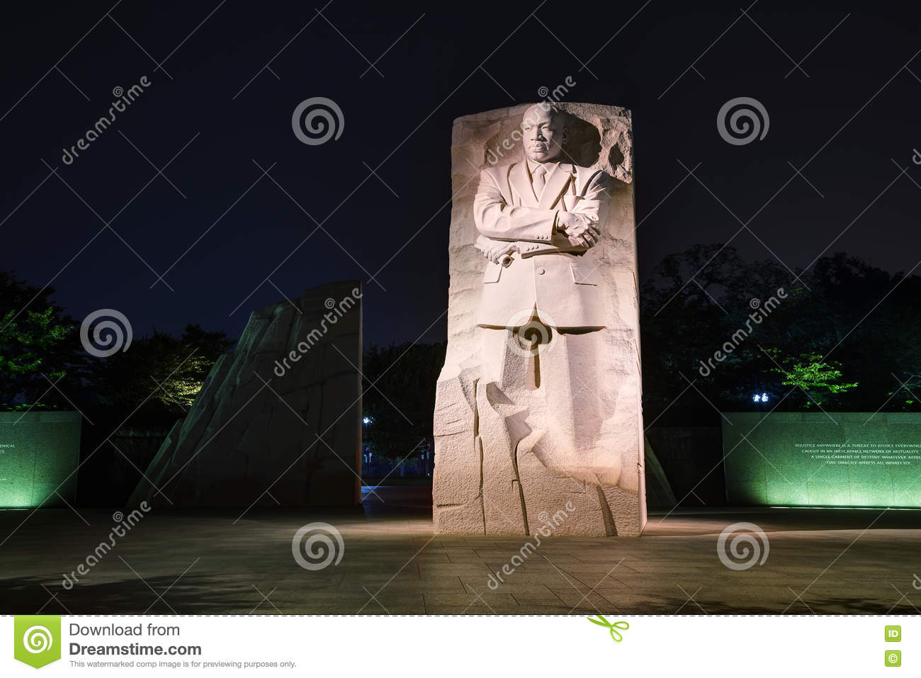 Martin Luther King, het herdenkingsmonument van Jr in Washington, gelijkstroom