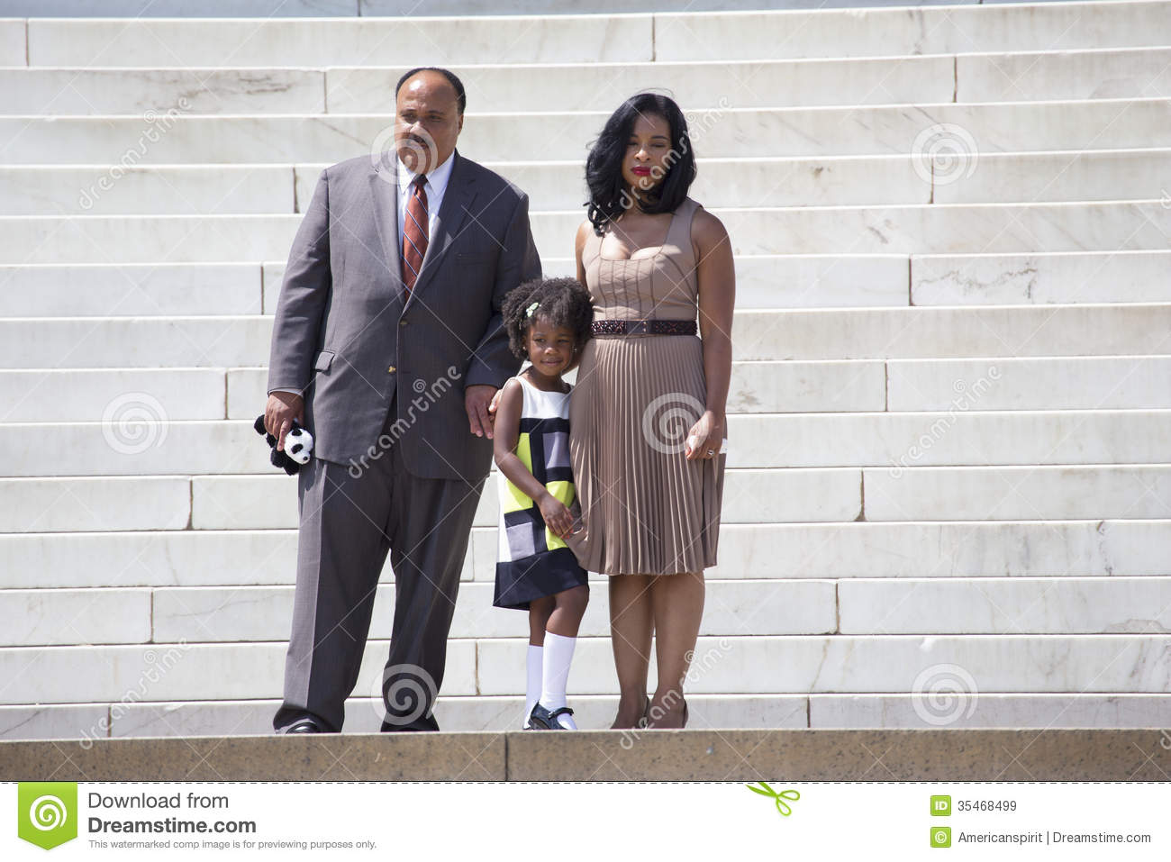 Martin Luther King Iii Wife And Daughter Editorial Stock Image