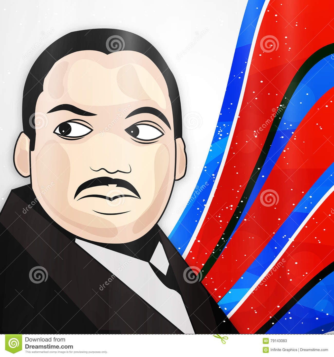 Martin Luther King Jr Day Background Editorial Stock Photo