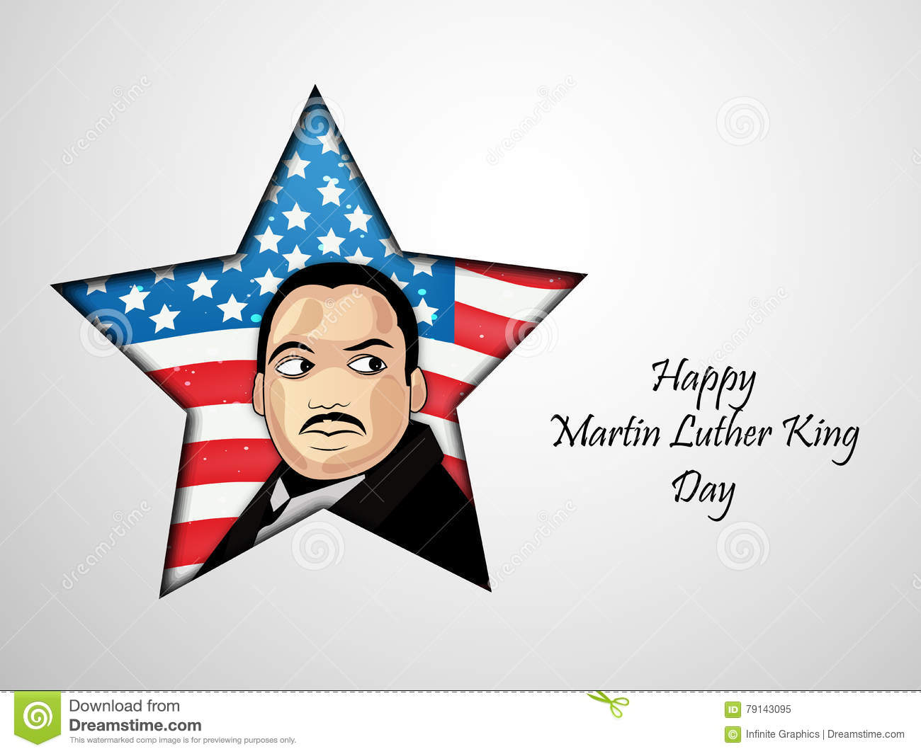 Martin Luther King Jr Day Background Editorial Image