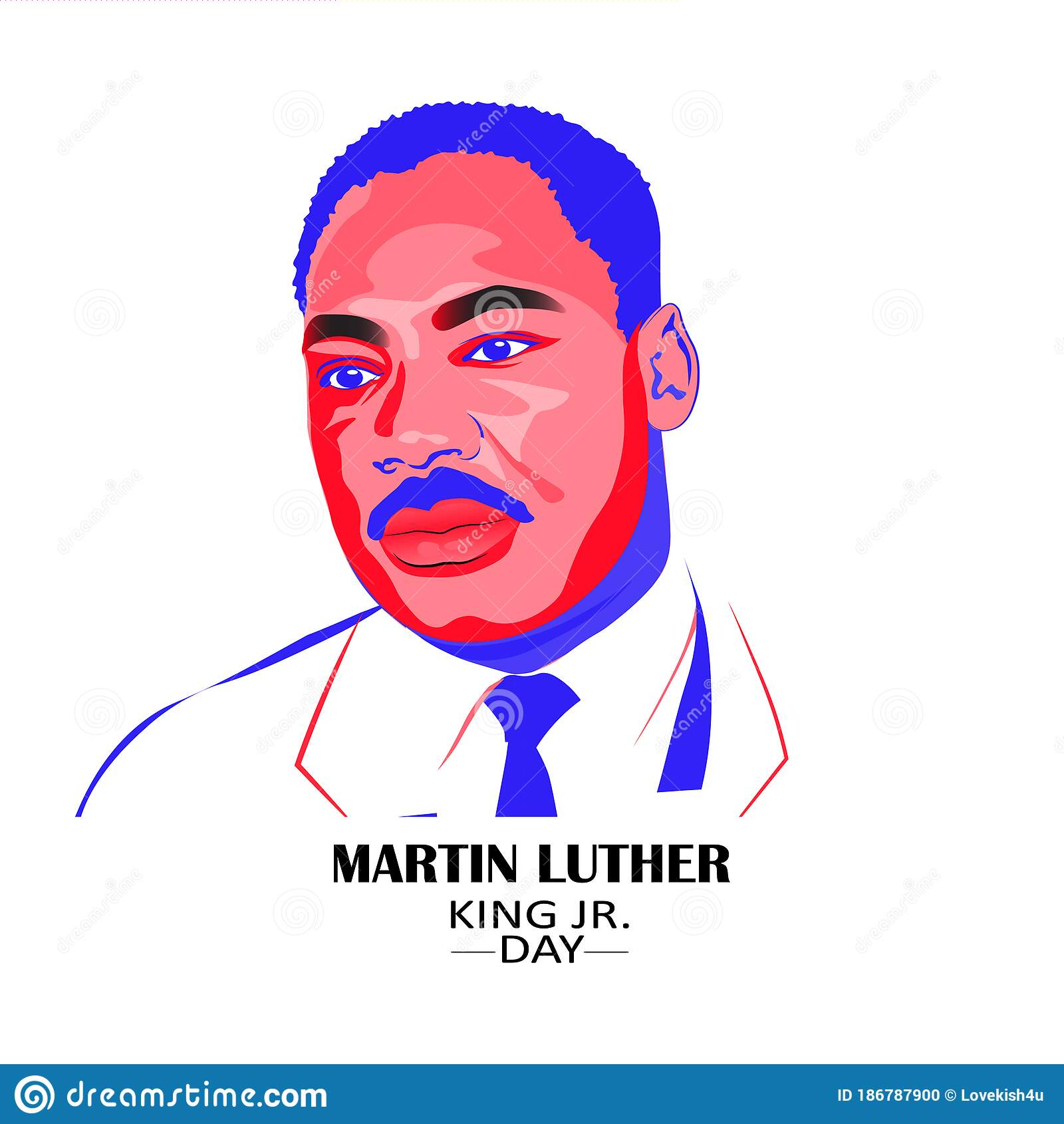 Martin Luther King Jr. Day Greeting Card Background. I ...