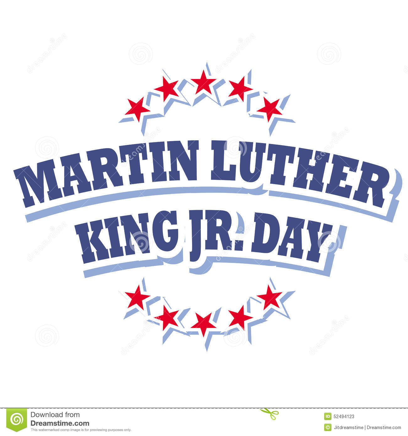 Martin Luther King Jr Day Logo Stock Vector Illustration Of