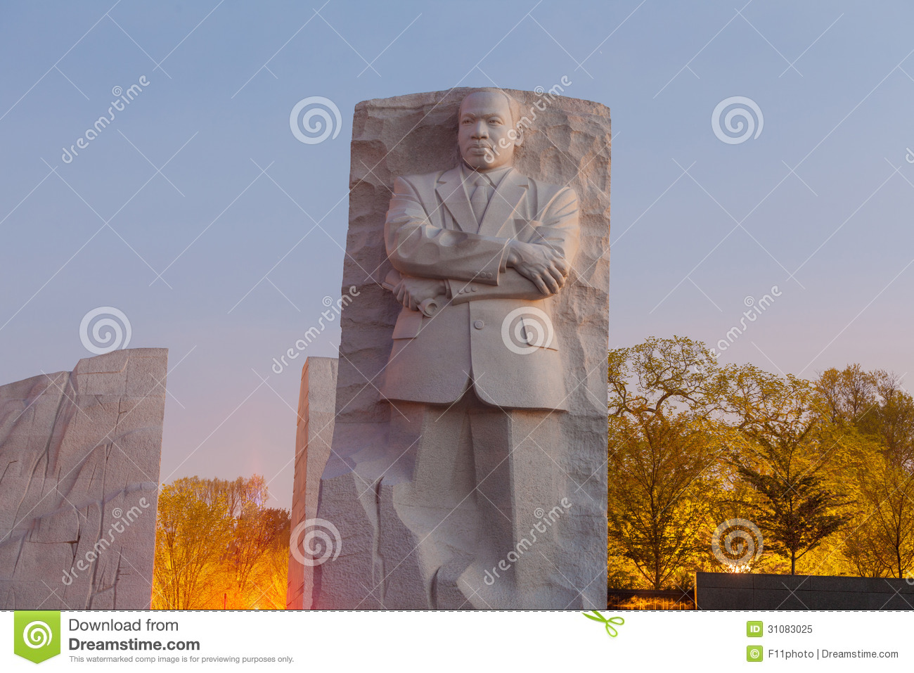 Martin Luther King Jr Memorial Statue Editorial Image Image Of