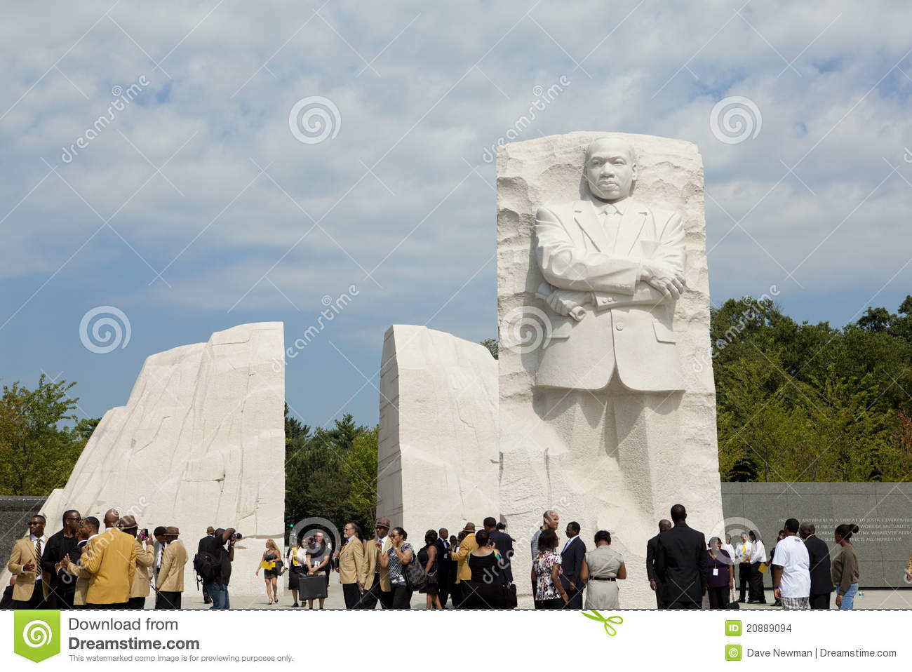Martin Luther King, Jr Monument on the Mall in Washington, DC. Opened ...